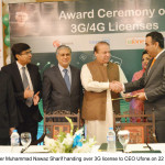 3 G and 4 G spectrum auction through a transparent and competitive process. Nawaz Sharif