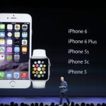 Apple unveils watch, larger iPhones