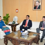 Qatar based telecom companies Wi-tribe called on  Mrs. Anusha Rahman