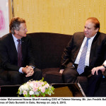 Prime Minister Sharif met Ceo of Telenor Norway, Mr. Jon Fredrik Baksaas