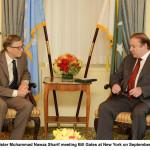 Mr. Bill Gates Calls On Prime Minister Nawaz Sharif