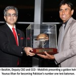 Mobilink Honors Pakistan's Number 1 Batsman