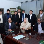 Ms. Anusha Rahman reviewing the progress of e-office at establishment division