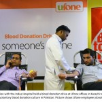 Ufone & Indus Hospital collaborate for Blood donation